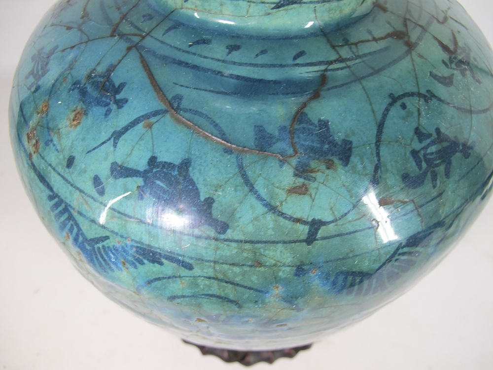 Islamic 13 16th century faience raqqa kashan ware pottery for Faience turquoise